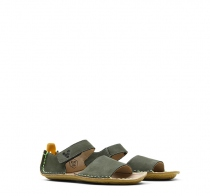 ABABA KIDS SANDAL Leather Botanical Green