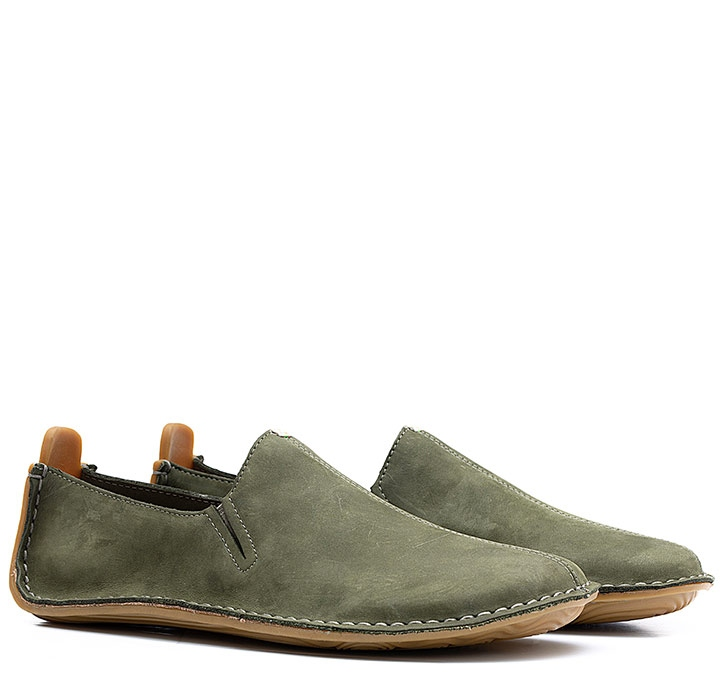 ABABA MENS Leather Botanical Green