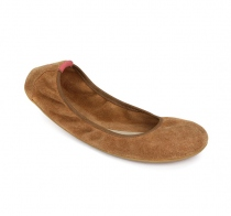 JING JING Ladies Suede Chestnut