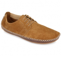 OPANKA LACE Ladies Suede Chestnut