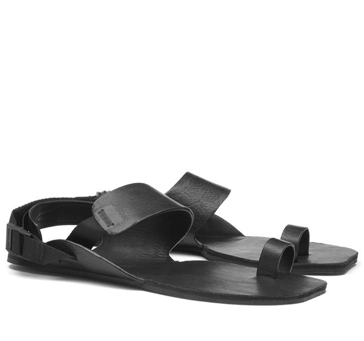KOLHAPURI Ladies Leather Black