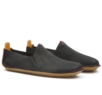 ABABA Mens Leather Black