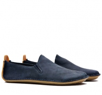 ABABA Mens Leather Navy