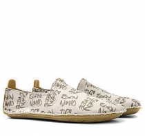 ABABA Mens Cream Born Free Canvas