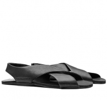 DUO SANDAL Ladies Black Leather